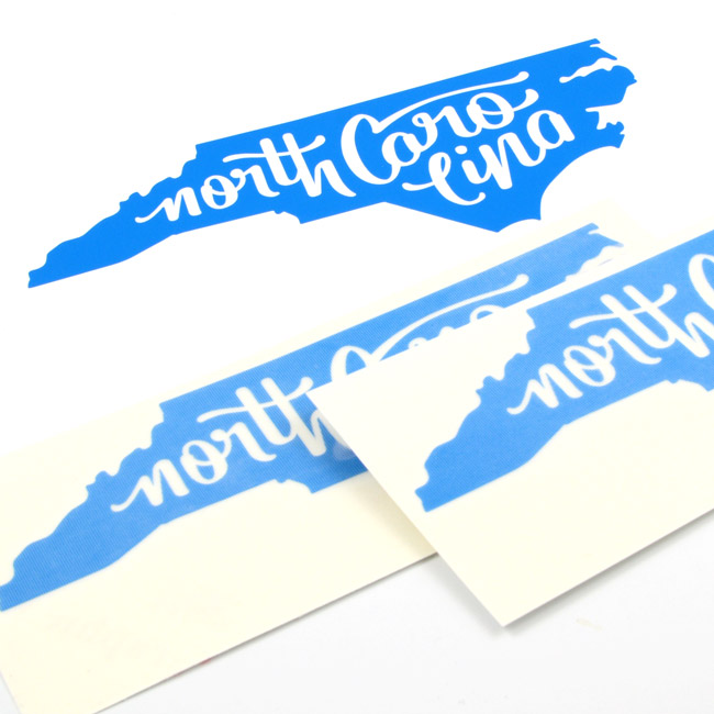 North carolina cut out stickers