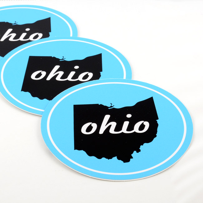 Ohio Circle Stickers