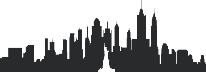 new york cityscape wall decal stickersstickers