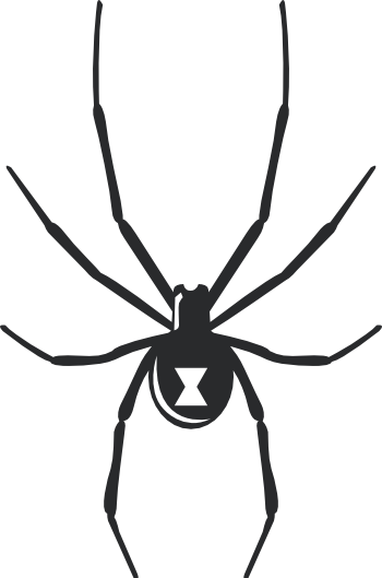 Black widow spider halloween wall decal